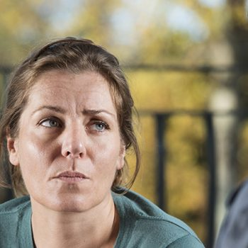 Anxious Woman Talking To therapist
